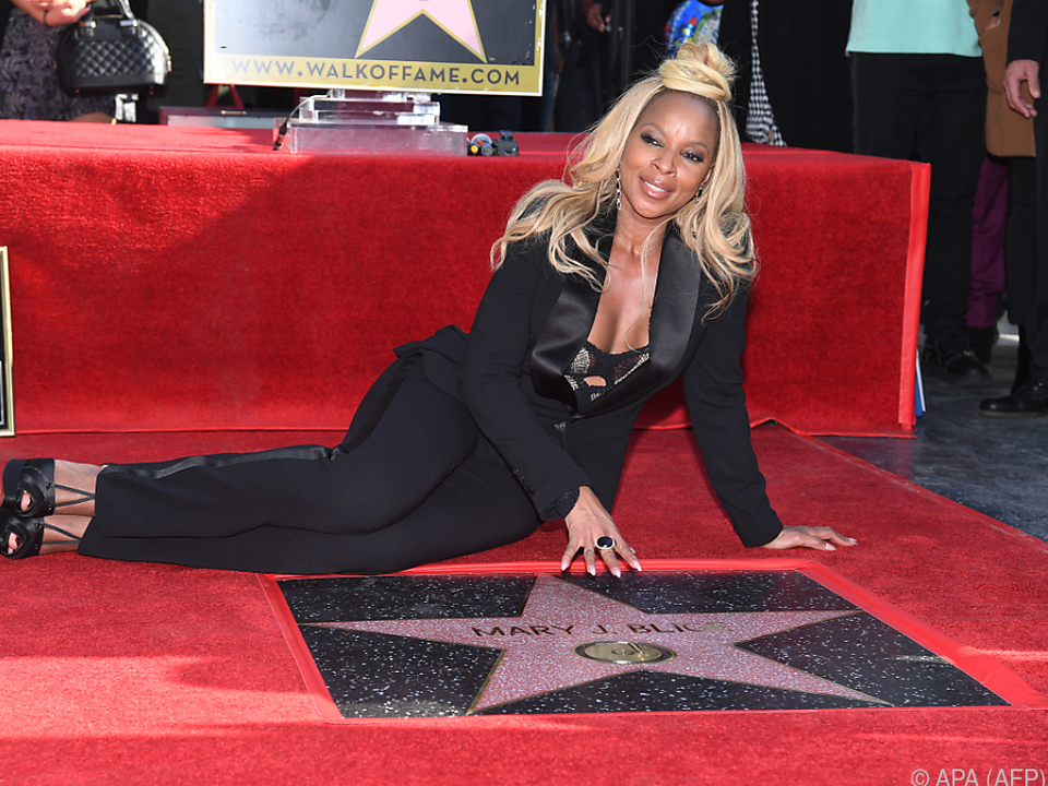 Mary J. Blige enthüllte die 2626. Sternenplakette in Hollywood