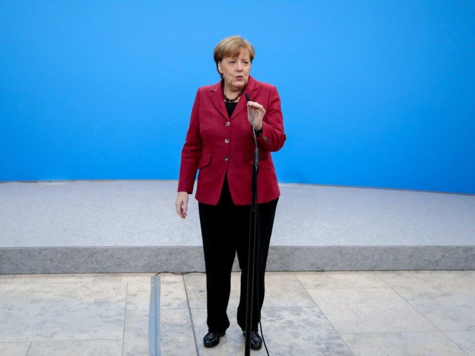 Merkel geht optimistisch in die Koalitionsgespräche