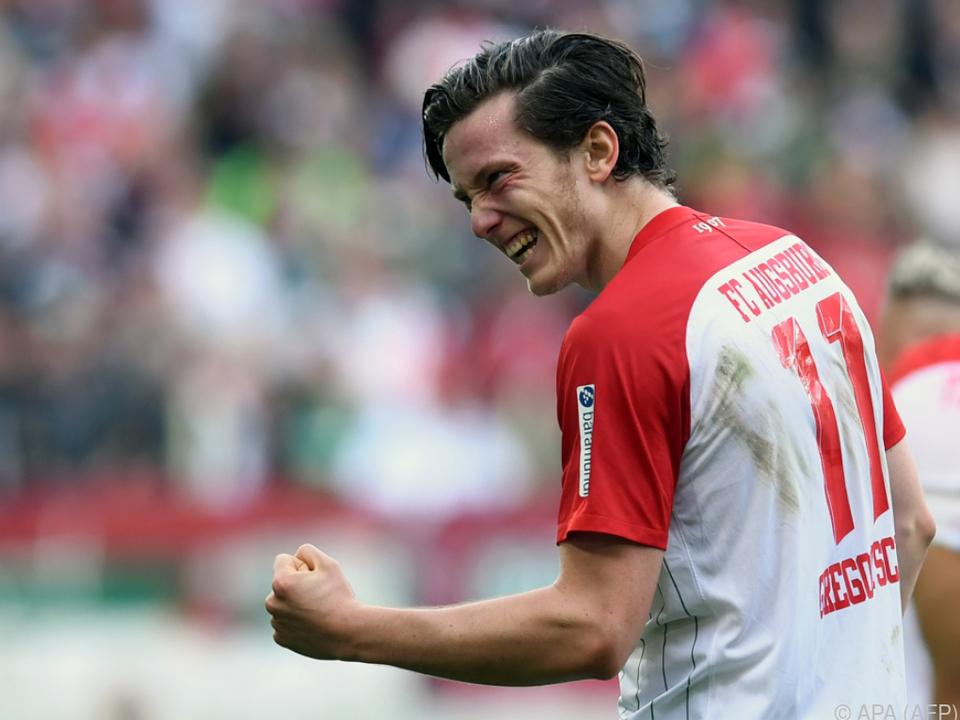 Michael Gregoritsch traf für Augsburg bereits acht Mal