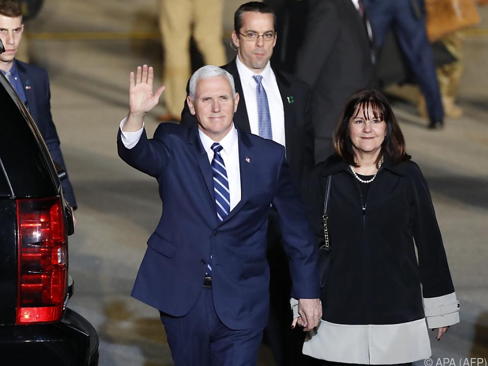 Mike Pence zu politischen Gesprächen in Israel angekommen