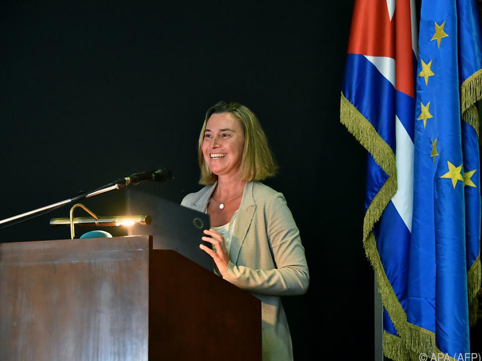 Mogherini will Beziehung Kuba-EU vertiefen
