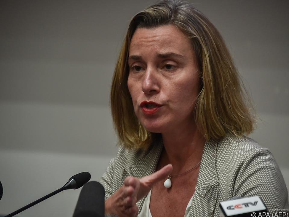 Mogherini will mehr mehr Flüchtlinge in Sicherheit bringen