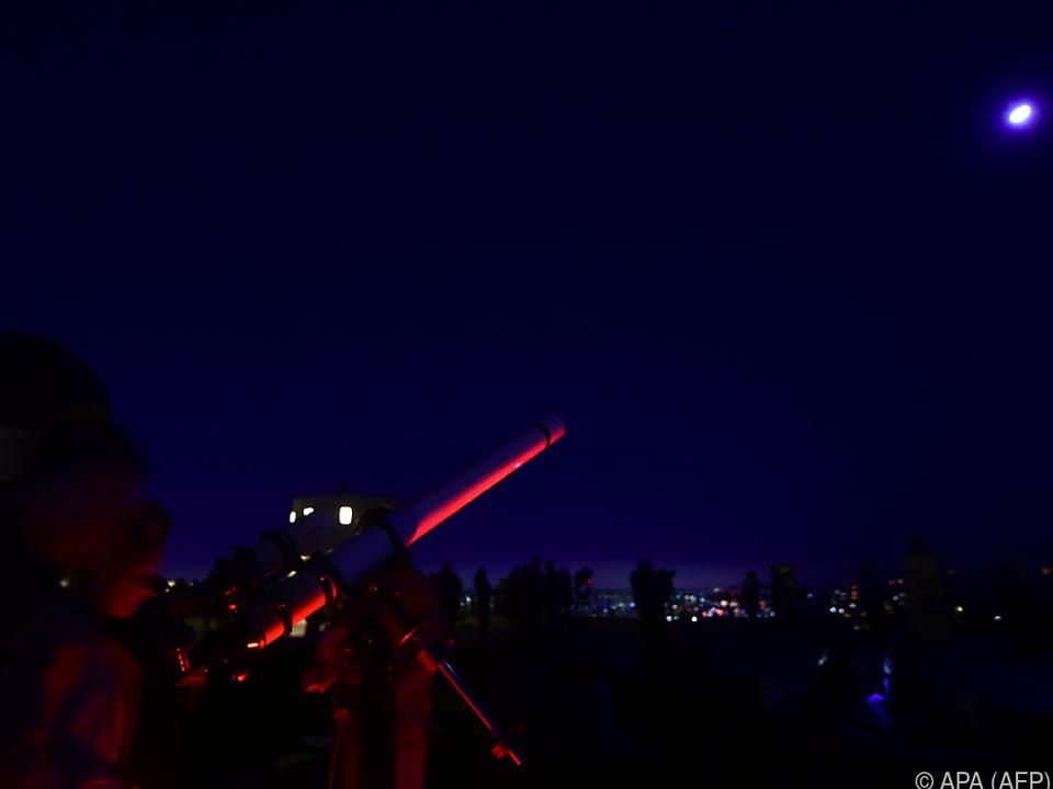 Mond-Schauer in Los Angeles