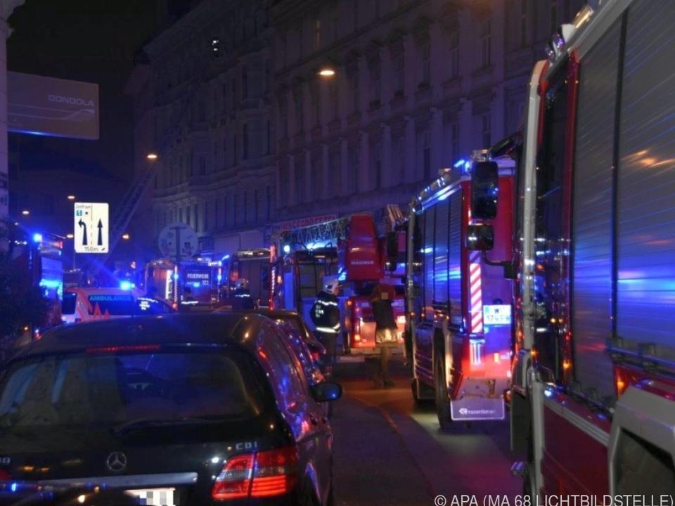 Nächtlicher Großeinsatz der Wiener Feuerwehr