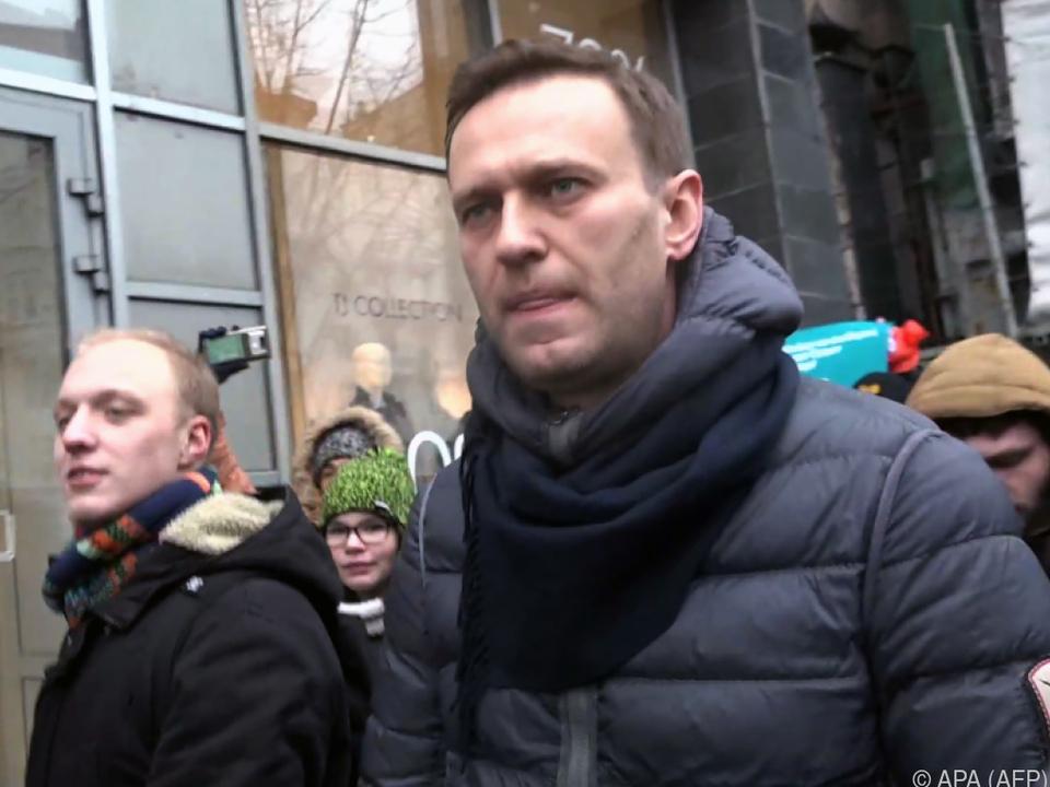 Nawalny vor seiner Verhaftung