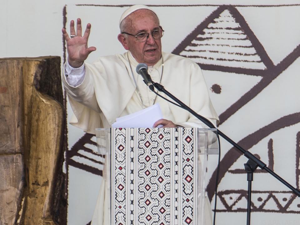 Papst Franziskus wand sich an die Bevölkerung