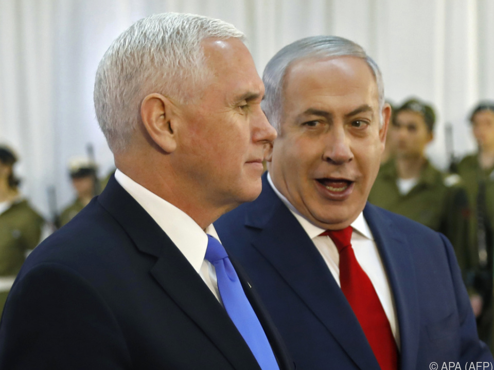 Pence in Netanyahus Residenz empfangen
