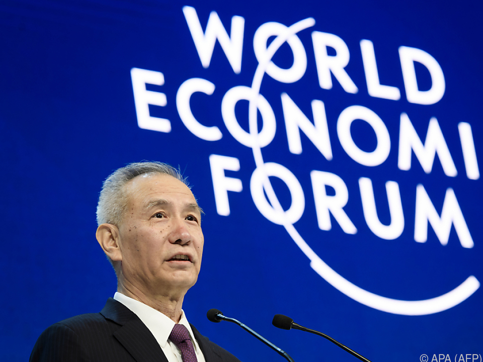 Präsidentenberater Liu He beim Weltwirtschaftsforum in Davos