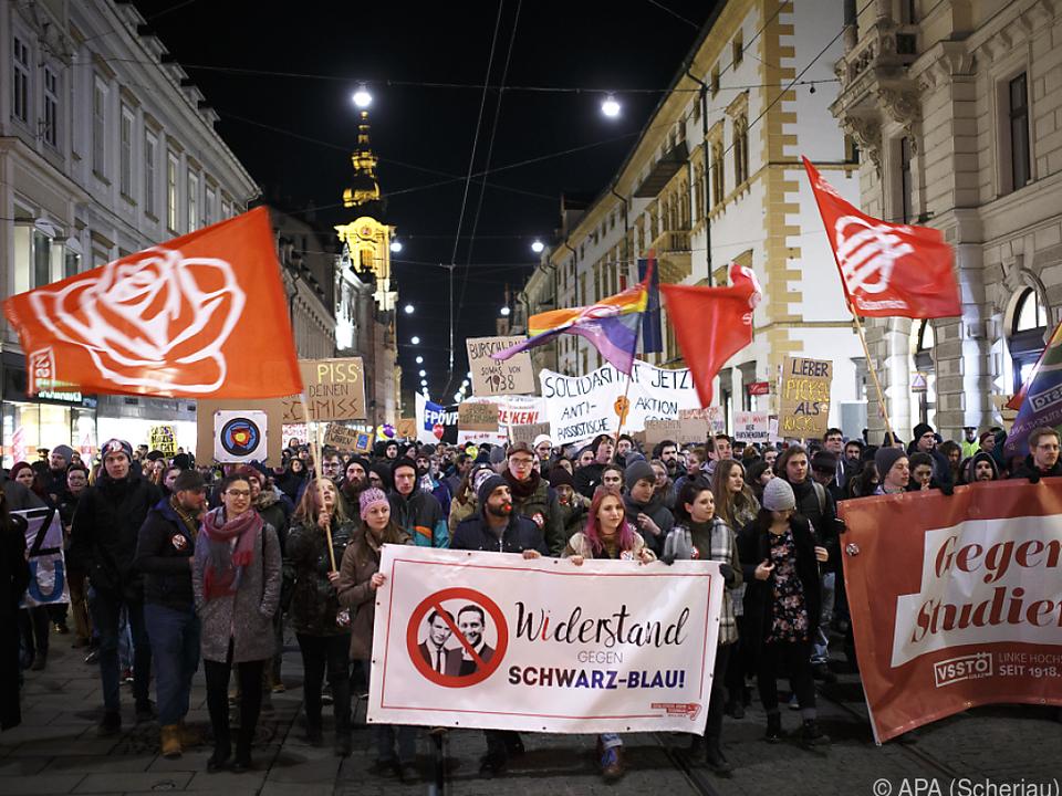 Protest des linken politischen Spektrums