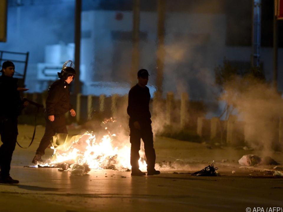 Proteste in Tunesien halten seit Tagen an