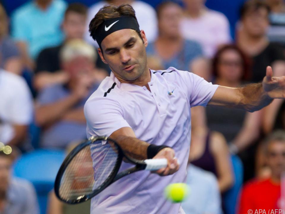 Roger Federer gewann sein Spiel in zwei Sätzen