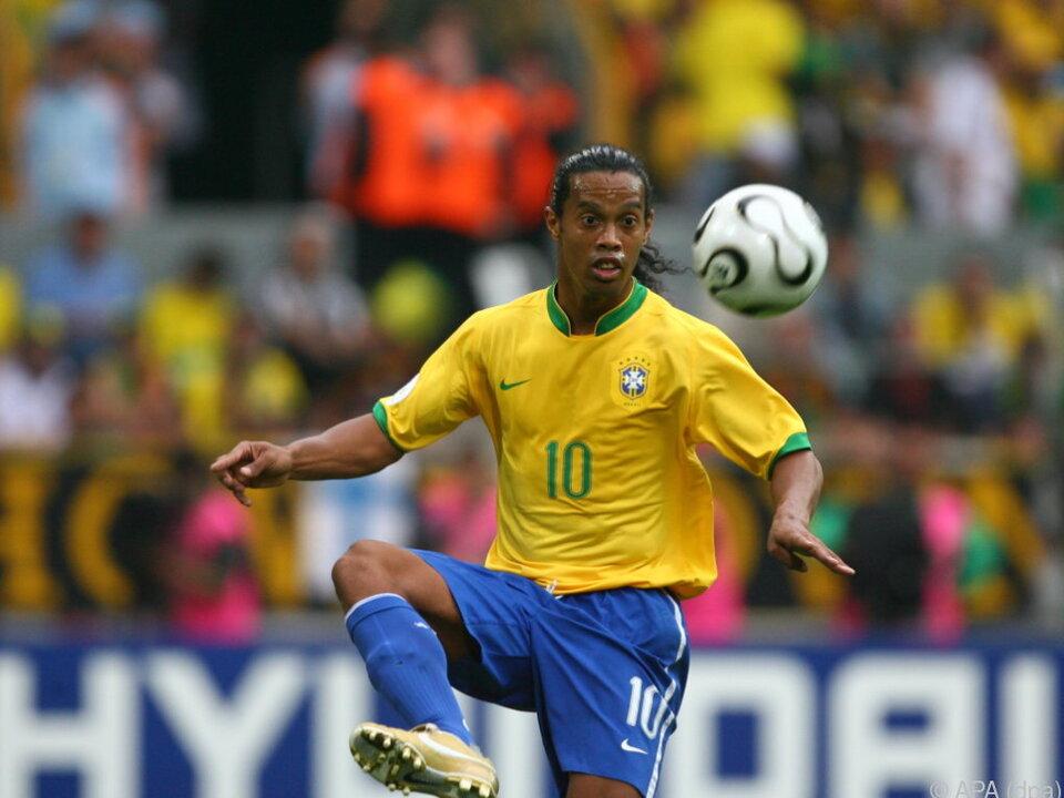 Ronaldinho wurde mit der Selecao 2002 Weltmeister
