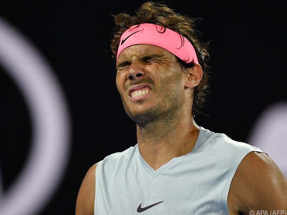 Schmerzhaftes Ausscheiden von Nadal