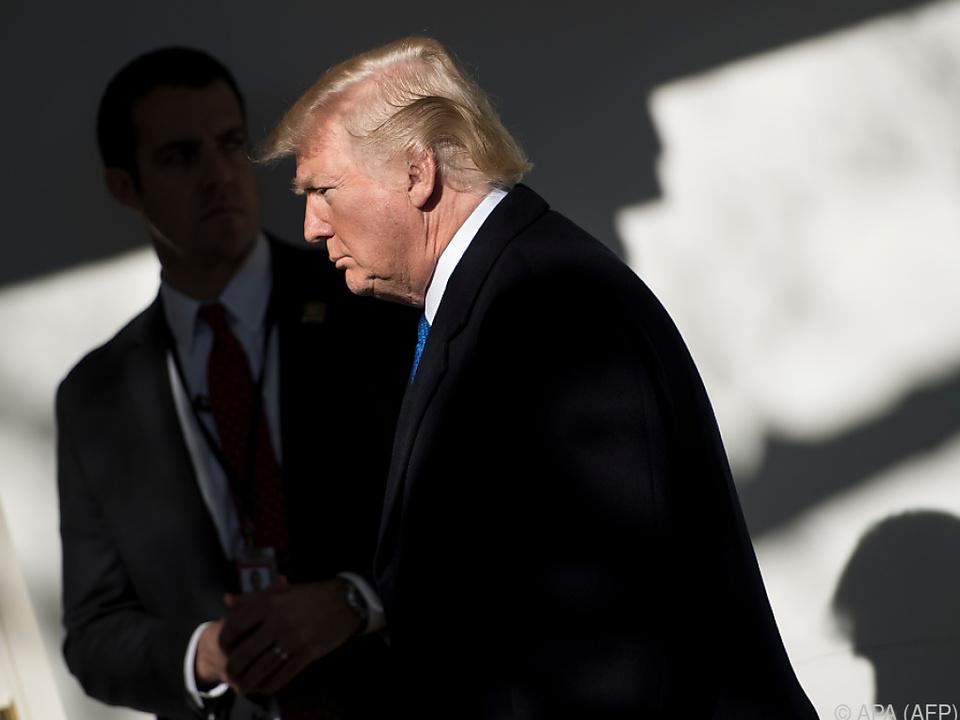 Sein Amtsjubiläum hat sich Trump wohl fröhlicher vorgestellt