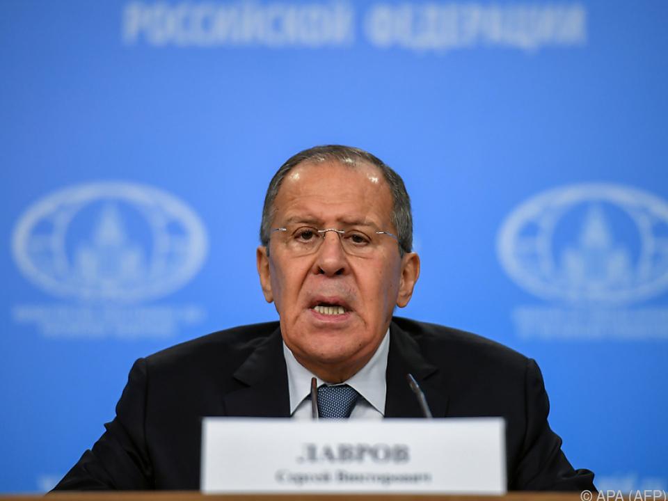 Sergej Lawrow hielt traditionelle Pressekonferenz
