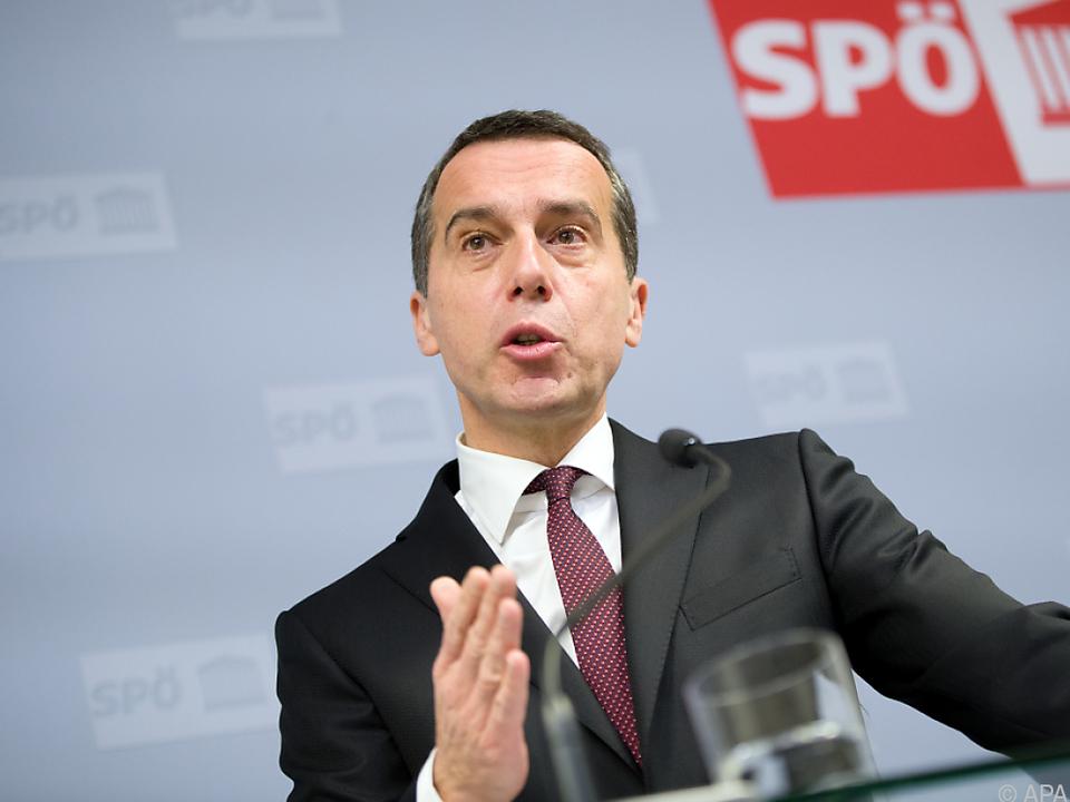 SPÖ-Chef Kern kritisiert u.a. Ende der Aktion 20.000