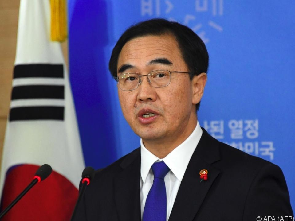Südkoreas Vereinigungsminister Cho Myoung-Gyon schlug Treffen vor