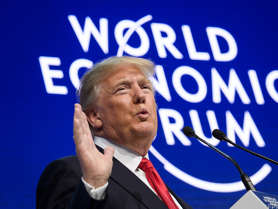 Trump bei seiner Rede in Davos