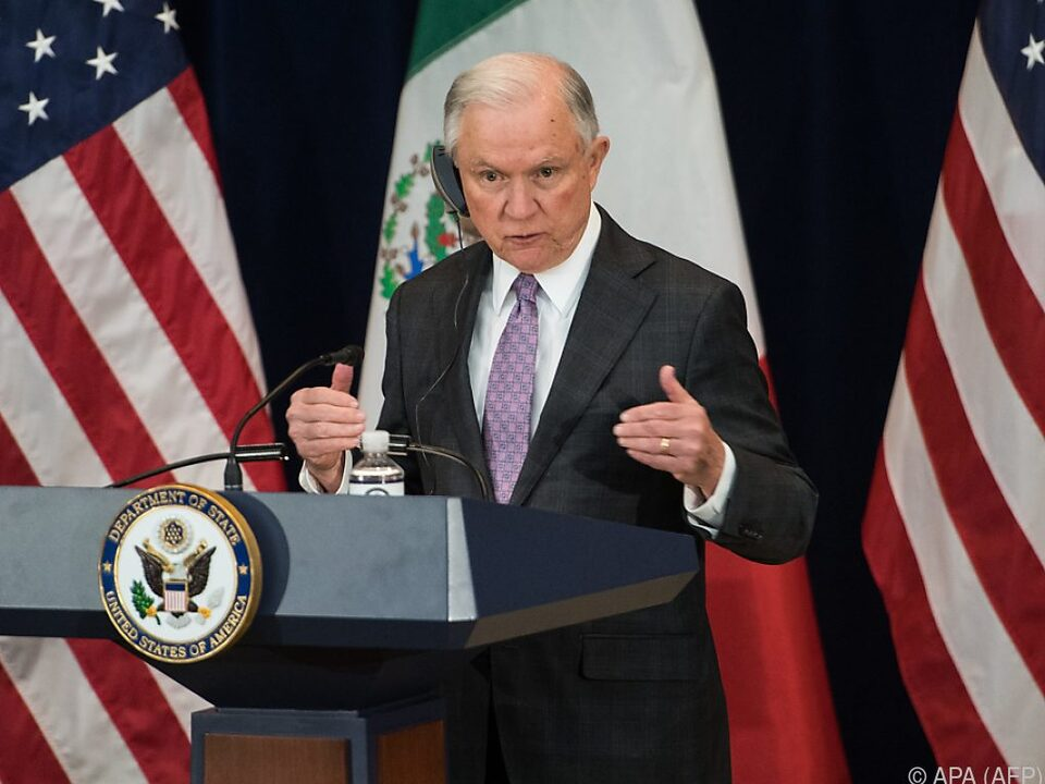 US-Justizminister Jeff Sessions fürchtet noch viel Schlimmeres