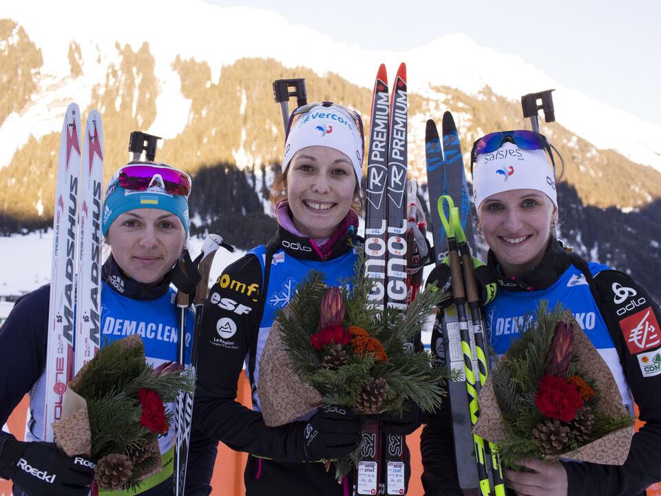 Biathlon IBU Open European championships biathlon, pursuit women, Ridnaun (ITA)