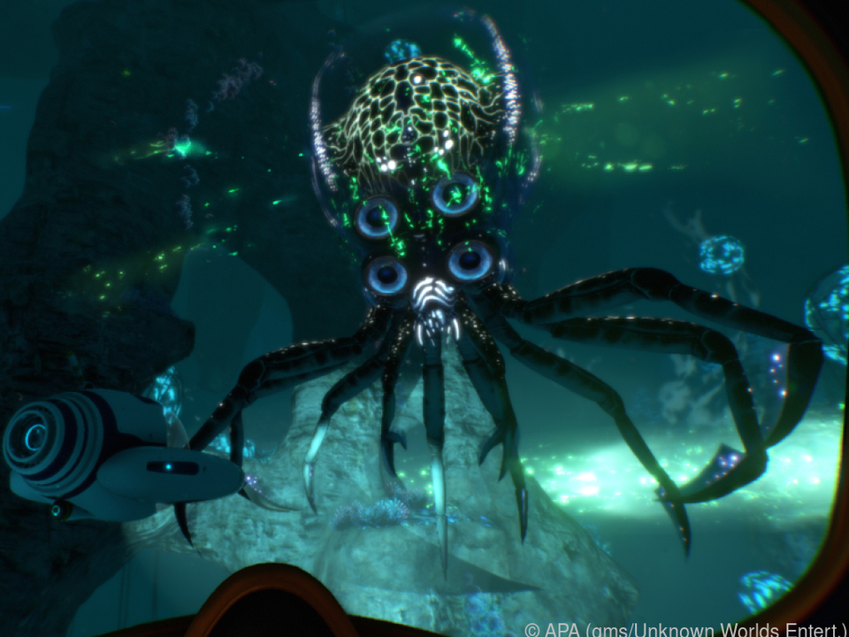 Wunderbare Unterwasserwelt auf einem fremden Planeten in \