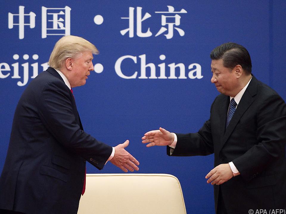 Xi und Trump trafen einander im November des Vorjahres