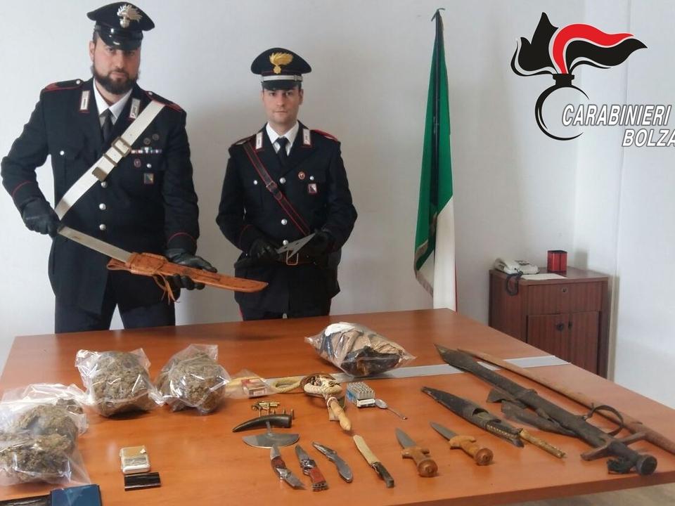 20180203-armi-e-droga-sequestrati-dai-carabinieri-di-appiano