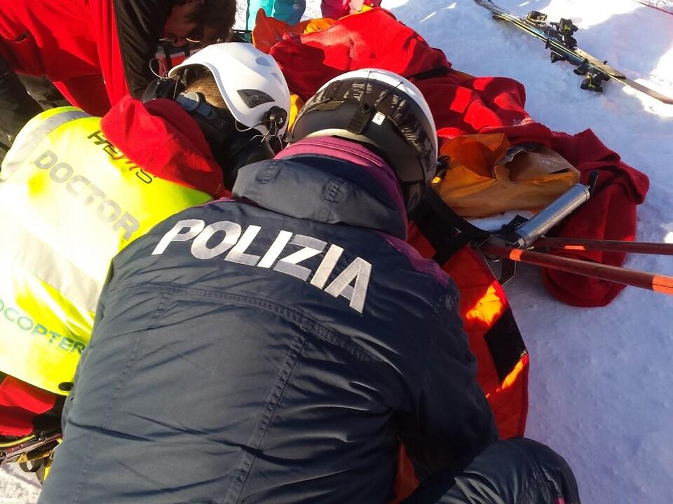 polizei pistendienst skiunfall