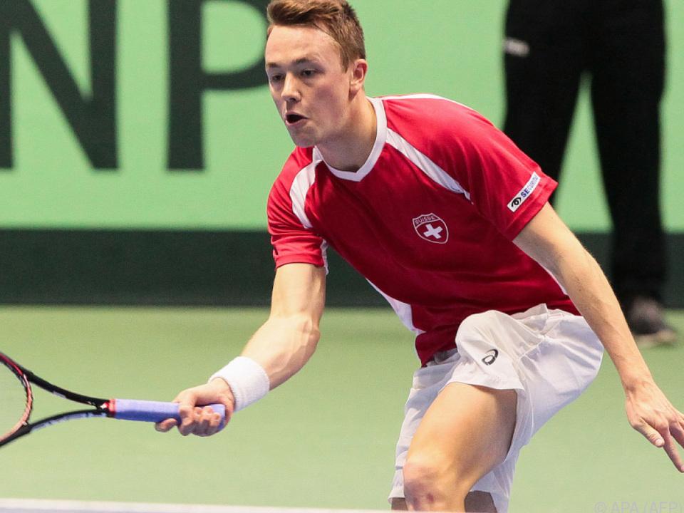 Adrian Bodmer verlor sein Spiel gegen Michail Kukuschkin