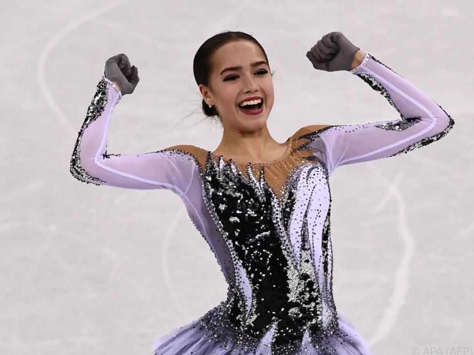 Alina Sagitowa darf zufrieden sein