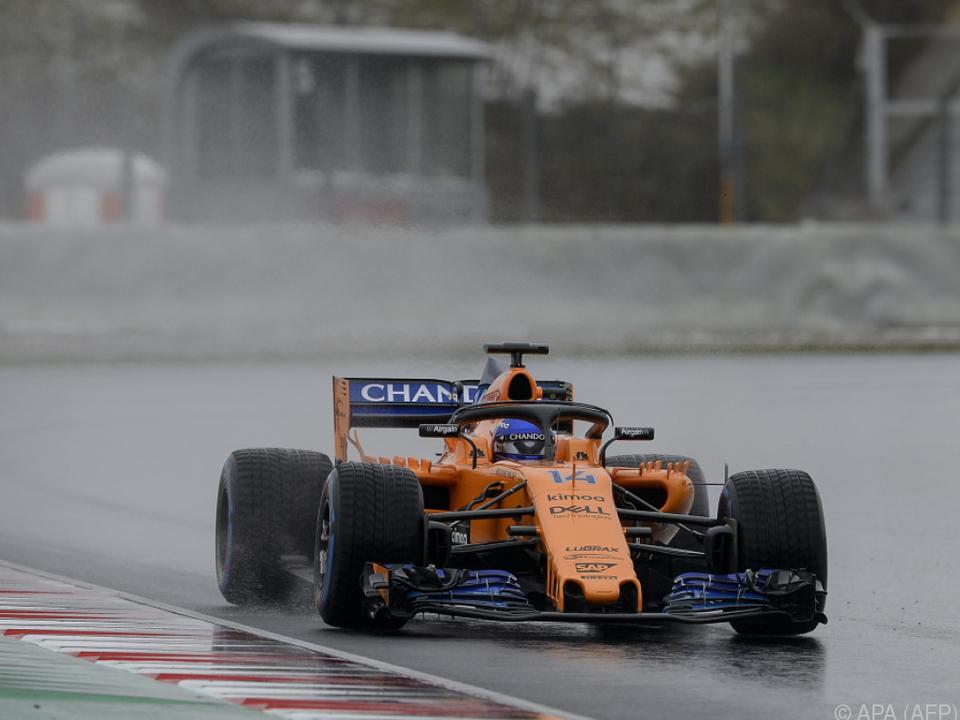 Alonso trotzte den Bedingungen