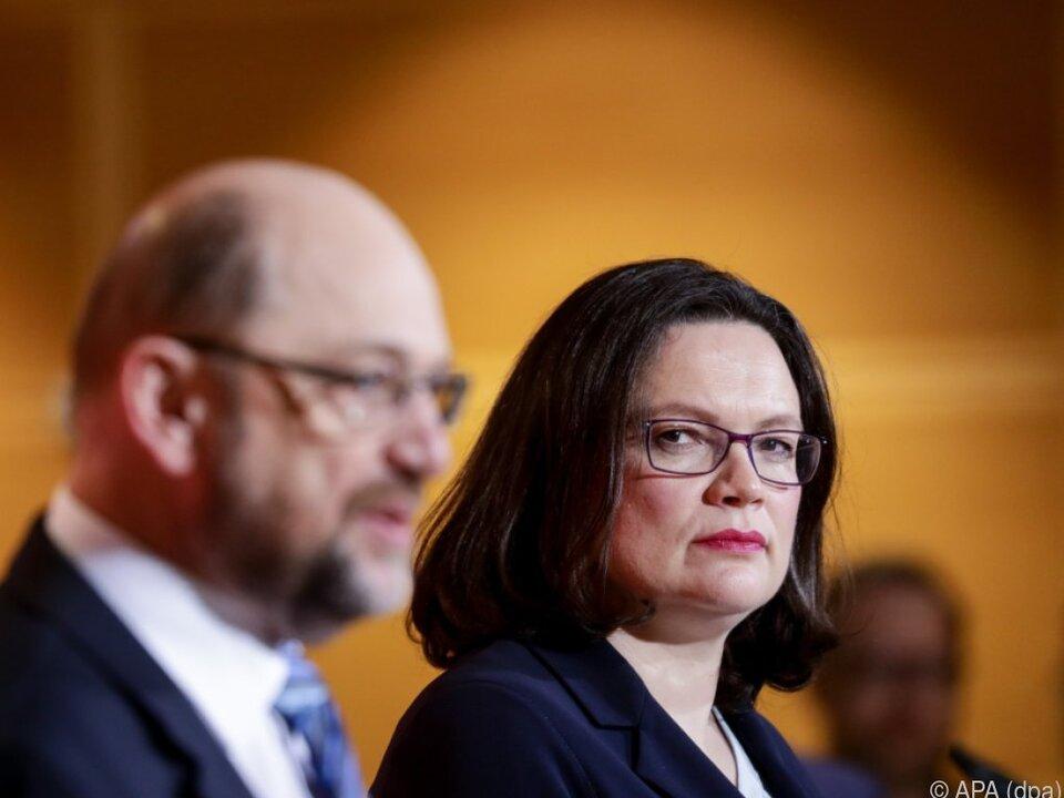 Scholz und Nahles übernehmen von Schulz
