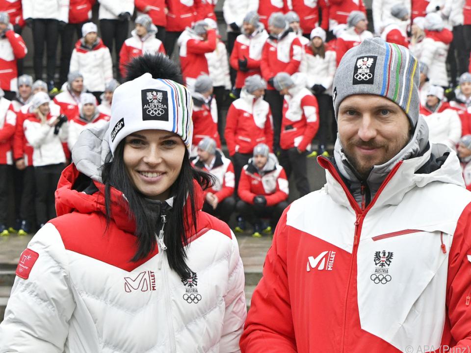 Anna Veith wird die rot-weiß-rote Flagge tragen