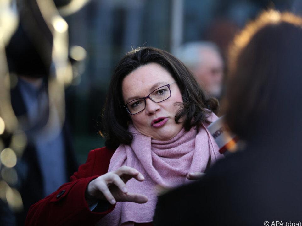 Auf die designierte SPD-Vorsitzende wartet viel Überzeugungsarbeit