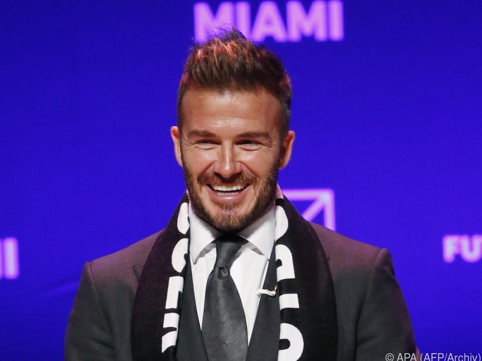 Beckham liebt seine Hände