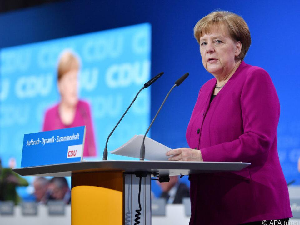 Bundeskanzlerin Angela Merkel appellierte an ihre Partei