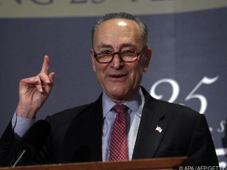 Demokraten Senats-Sprecher Schumer kündigte harte Arbeit an