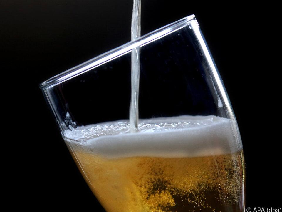 Der Inlandskonsum bei Bier stagniert