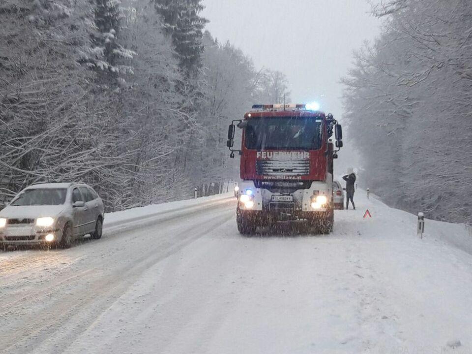 Der ÖAMTC berichtete von Verkehrsproblemen im Großteil der Steiermark