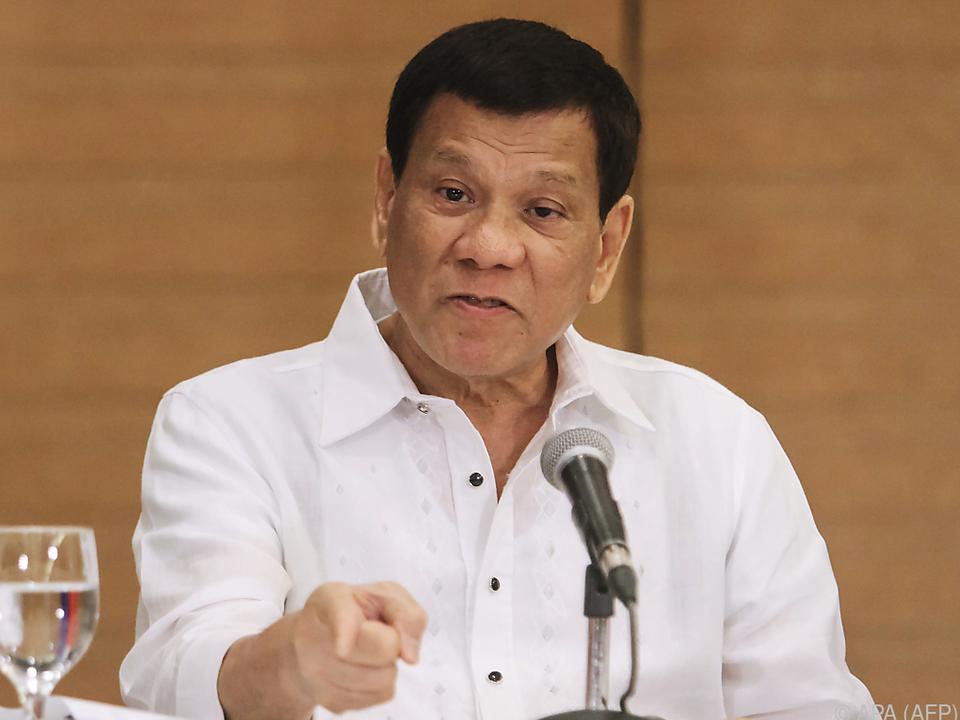 Der Präsident der Philippinen ist für seine schlimmen Aussagen bekannt