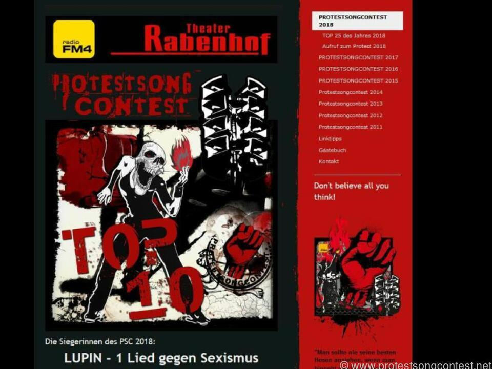 Der Protestsongcontest 2018 fand im Wiener Rabenhof Theater statt