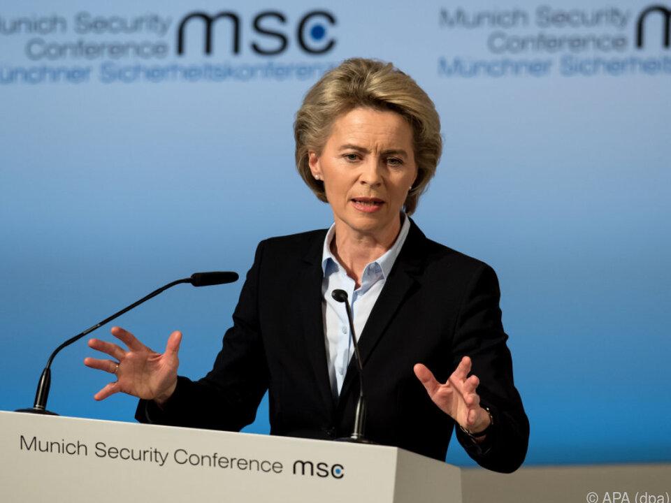 Deutsche Verteidigungsministerin Von der Leyen hielt Eröffnungsrede