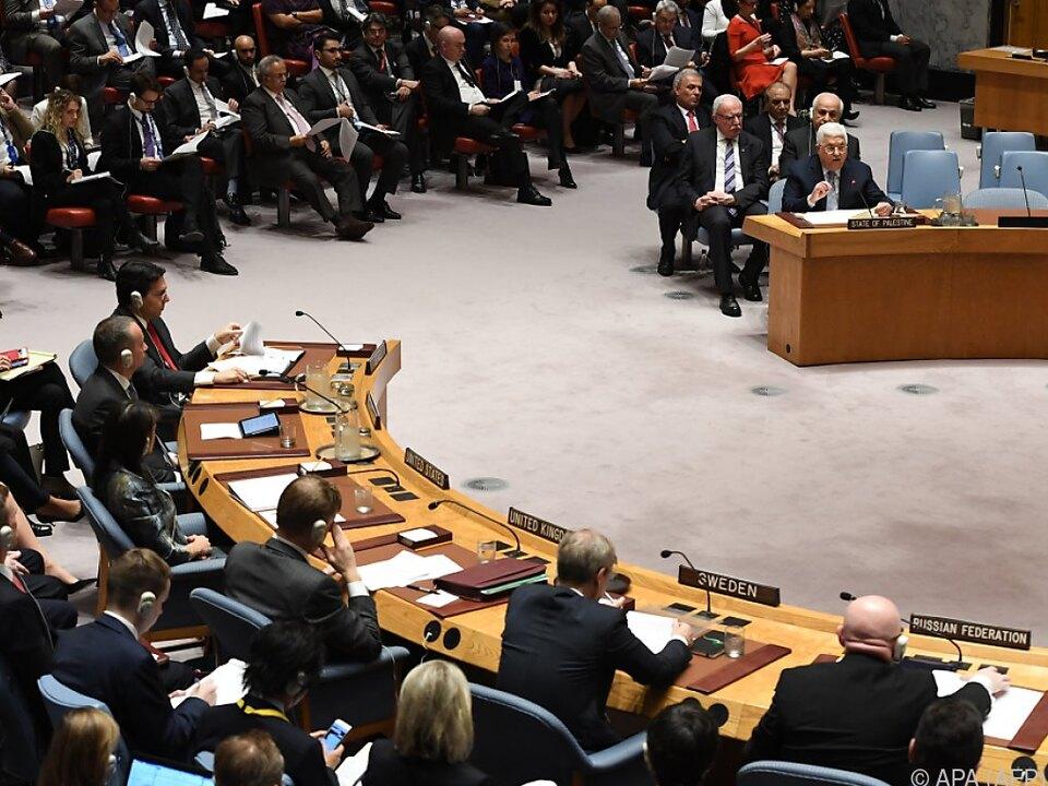 Die 15 Mitgliedsländer stimmten geschlossen für Resolution