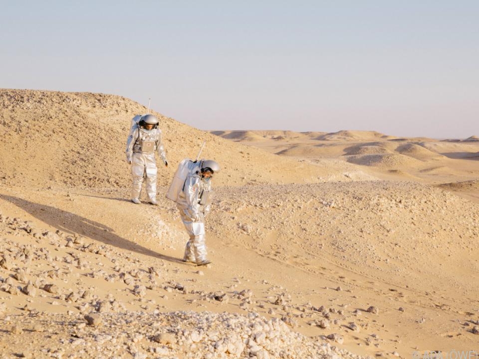 Die Astronauten auf Mars-Mission im Oman
