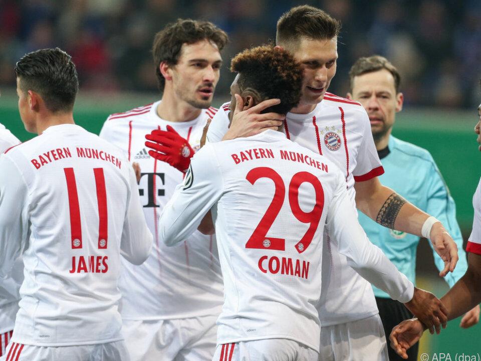 Die Bayern bejubelten einen Kantersieg
