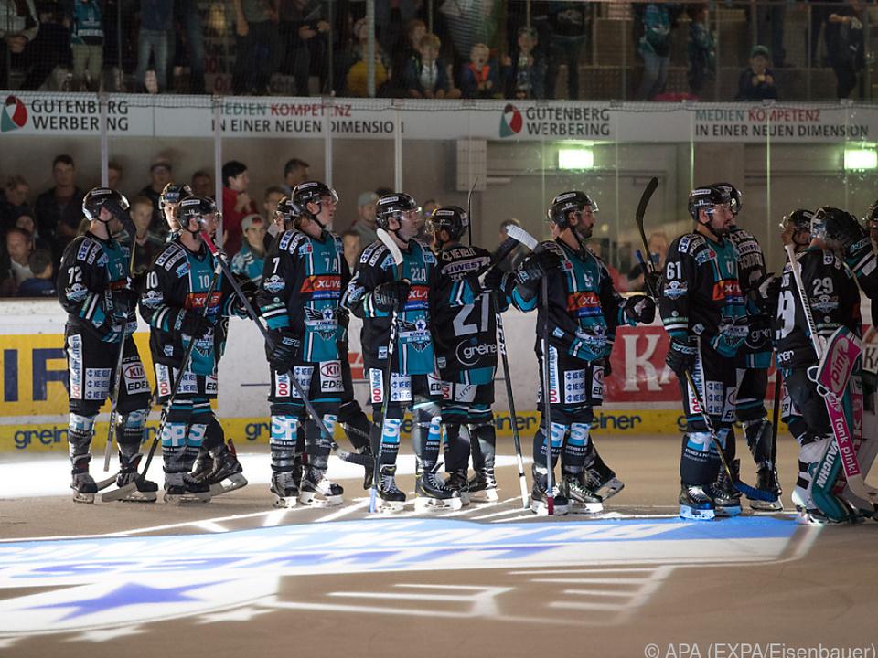 DIe Linzer feierten einen knappen Sieg gegen Salzburg
