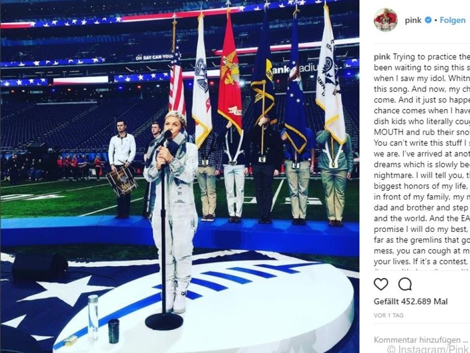 Die Sängerin postete dieses Foto auf Instagram