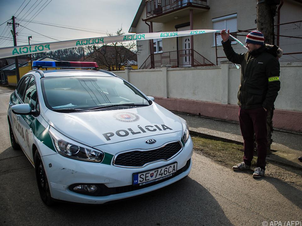 Die slowakische Polizei ermittelt wegen Mordes