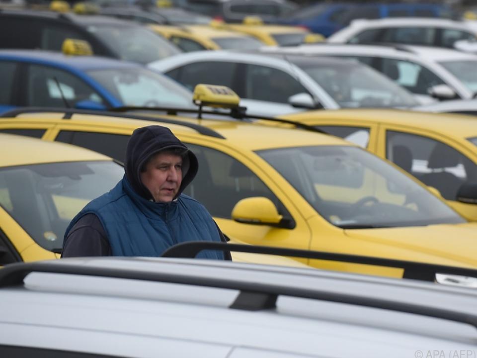 Die tschechischen Taxifahrer sind nicht begeistert