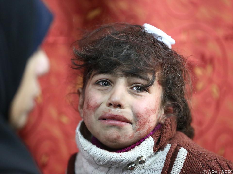 Die unschuldigen Opfer des grausamen Krieges